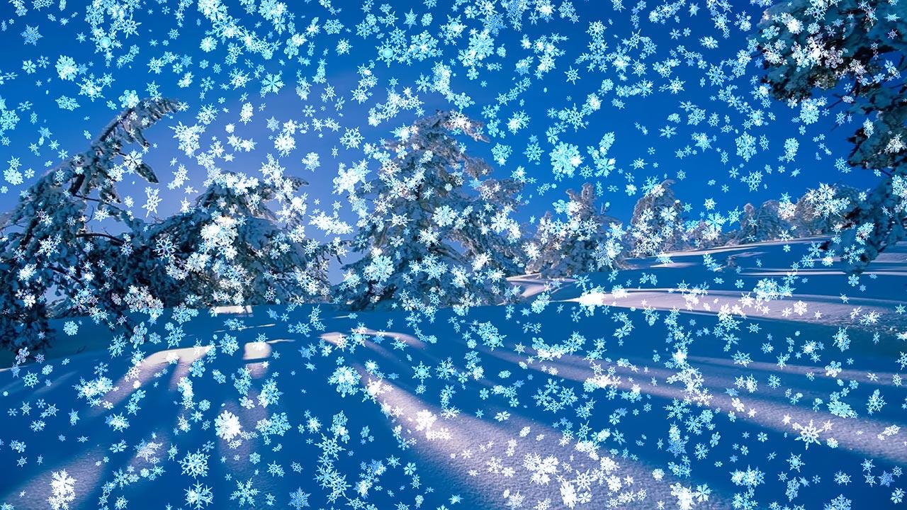 снежные живые обои