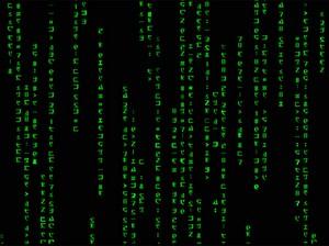 Обои с Матрицей в виде бегущего кода