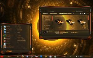 Оранжевая тема для Windows 7