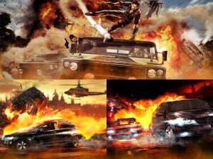 Огненные машины на обоях и картинках