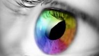 Глаз с радугой на видео обоях